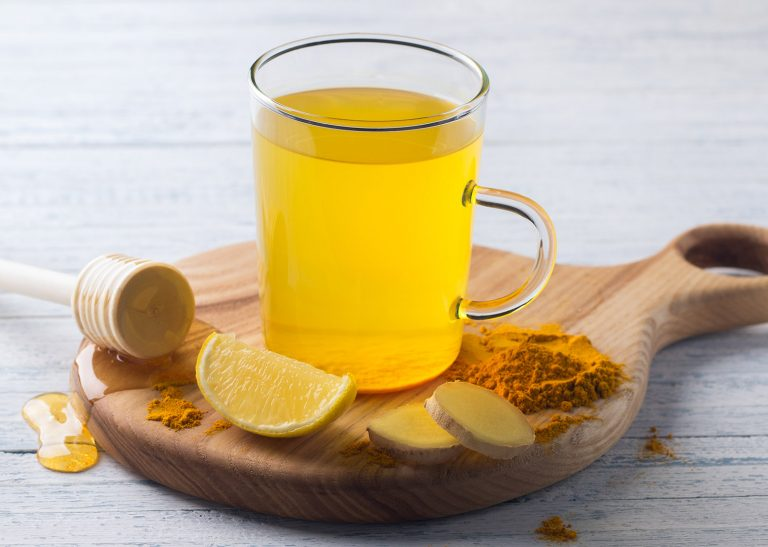 Earthy Turmeric Lemon Ginger & Honey Fruit Infusion