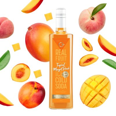 Q Tropical Mango & Peach Real Fruit Mixer 500mL