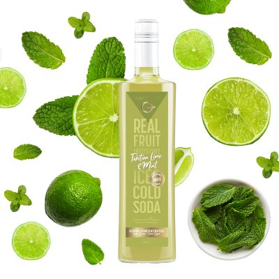 Q Tahitian Lime & Mint Real Fruit Mixer 500mL