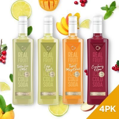 Q Real Fruit Mixers 500mL (4-Pack)