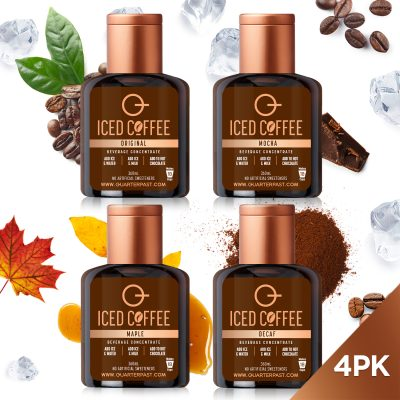 Q Iced Coffee Concentrates Mixed 360mL (Launch 4-Pack)