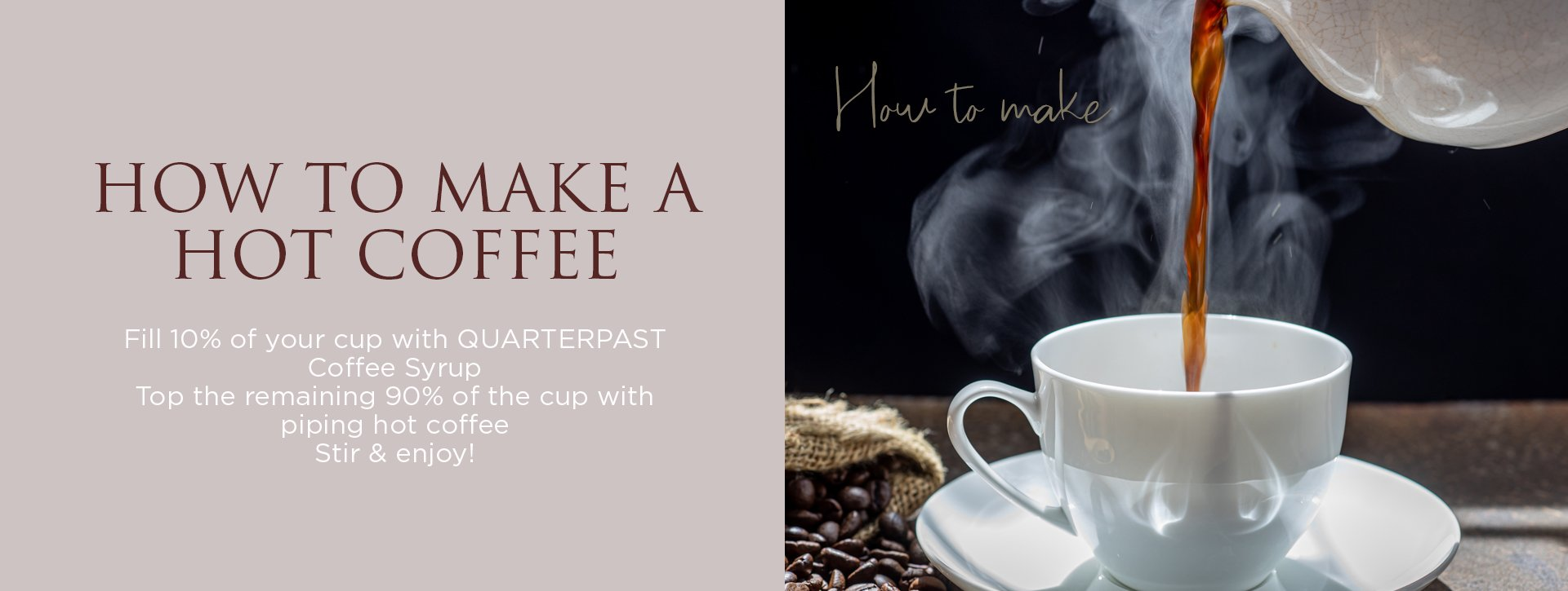 How to make a delicious flavoured coffee